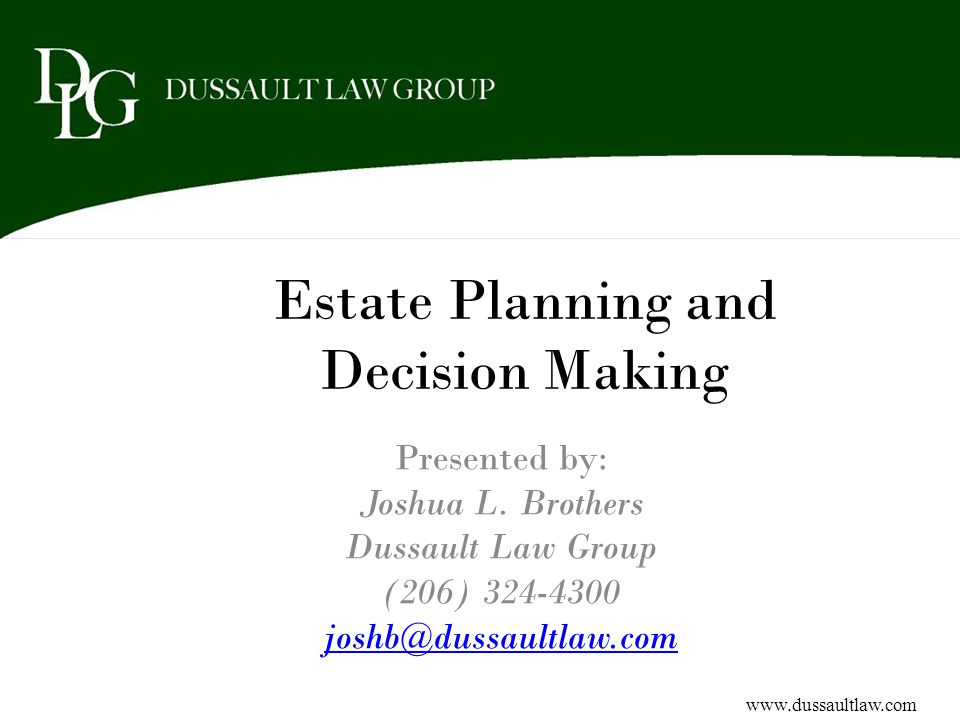 Third Party SNT Assets of anyone other than the beneficiary No (d)(4)(A) SNT restrictions – Anyone can establish – Beneficiary can be any age – No Medicaid reimbursement Complex Trusts Can be a Living or Testamentary Trust Common situations in which a Third Party SNT is created – Will and Estate Planning documents – Family or friends want to assist the beneficiary – Avoidance of multiple SNTs in wills Lack of judicial oversight Use of non-professional Trustees Control of assets after the beneficiary has passed away www.dussaultlaw.com