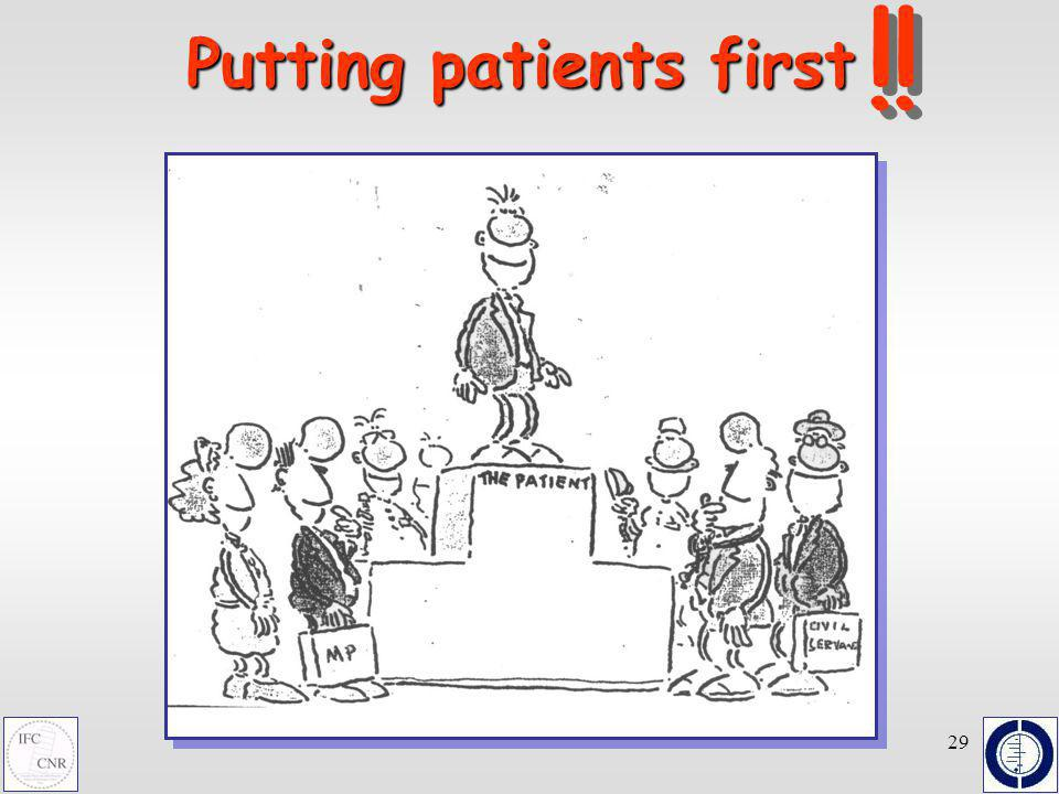 29 Putting patients first