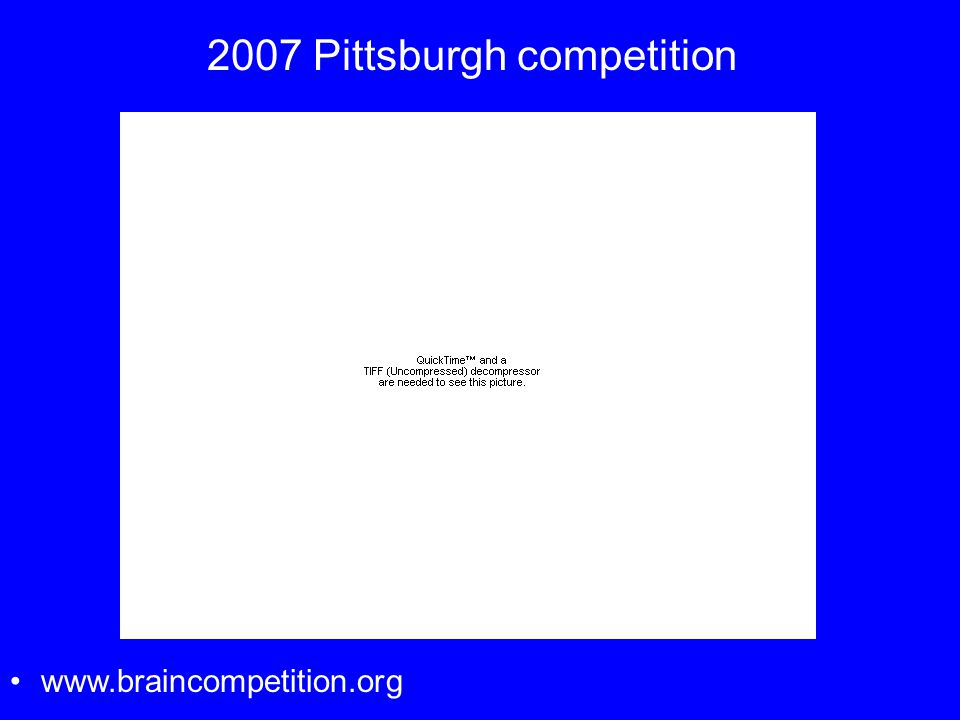 2007 Pittsburgh competition www.braincompetition.org
