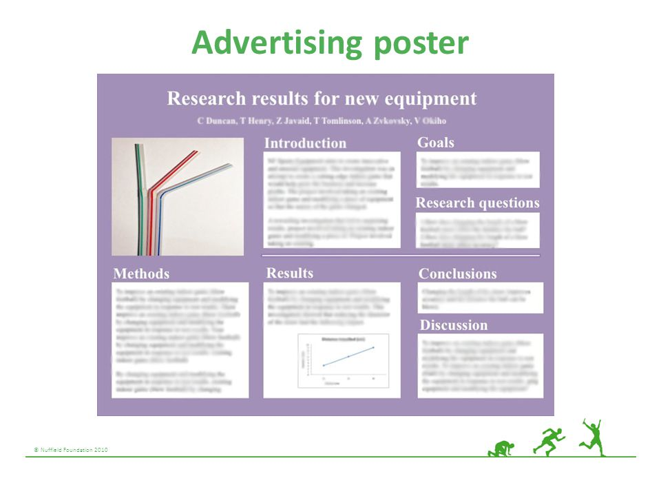 © Nuffield Foundation 2010 Advertising poster