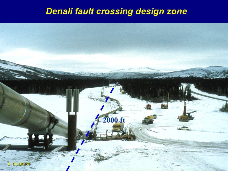Denali fault crossing design zone L. Cluff, ft