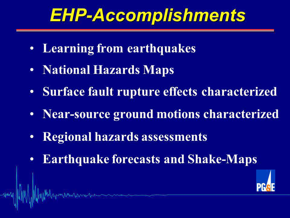 Conclusions and Recommendations The USGS must initiate a leadership role: A complete analysis of the consequences of catastrophic California earthquakes (San Francisco Bay Area / Southern California Region Integrate all hazards threats to develop a comprehensive emergency response for all infrastructure elements that will institute a full and speedy recovery for society The lessons learned in this demonstration project would be applicable to all national extreme disasters