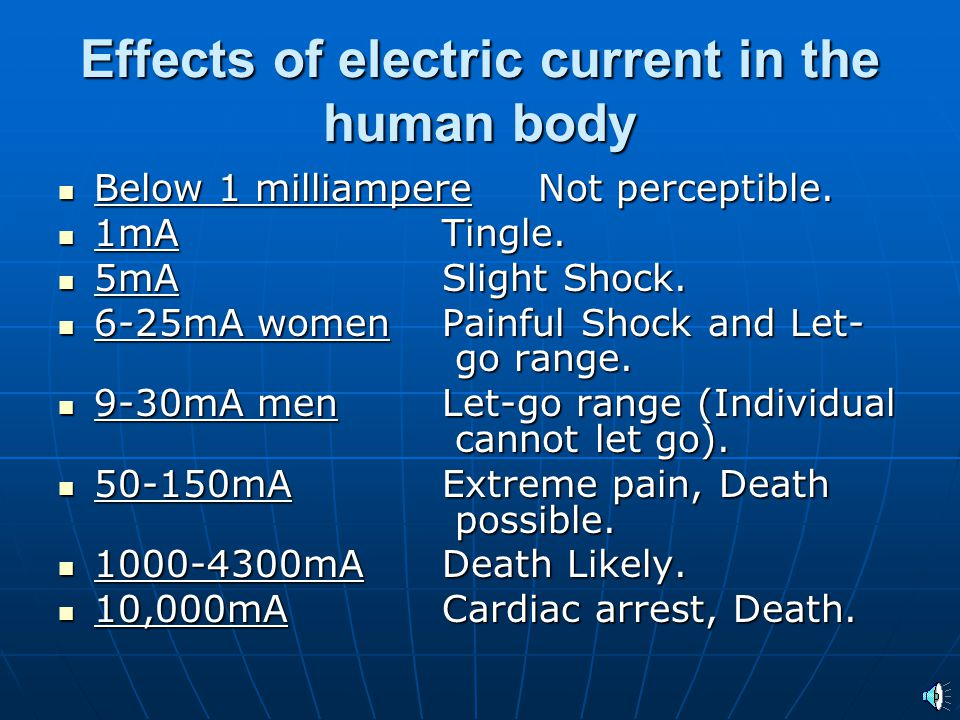 Shock and Electrocution: Direct contact with electricity can cause electric shocks that can result in death by electrocution.