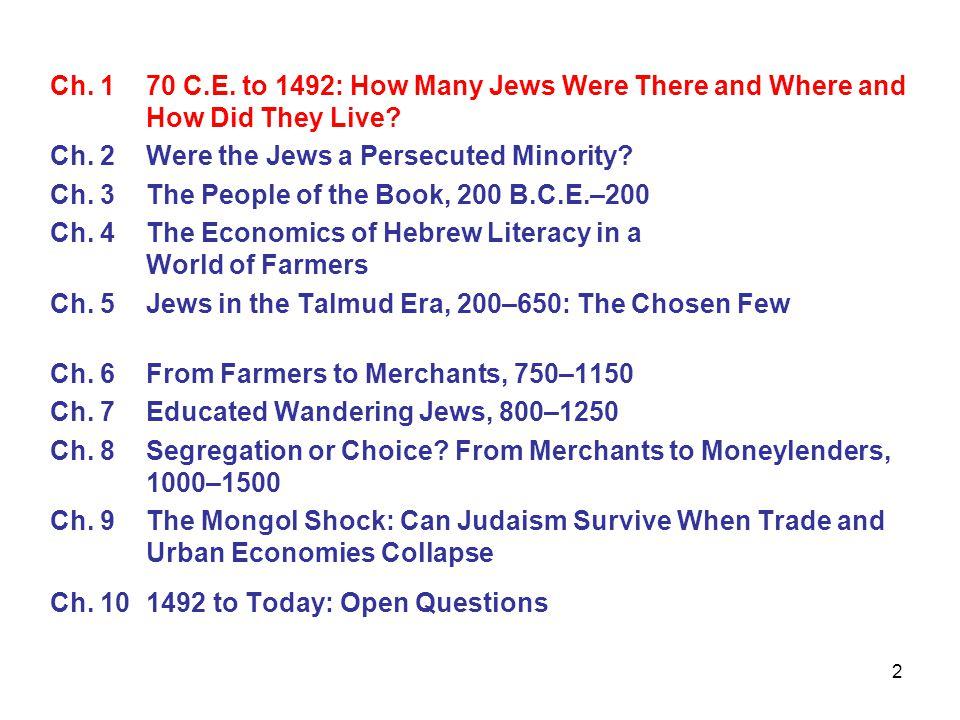 63 Jewish Population Dynamics 1170130014001490 Land of Israel0.002……… Mesopotamia, Persia0.8-1.0__ 0.25-0.35 Egypt, North Africa0.07__ 0.005 Syria0.02__ 0.007 Balkans, Eastern Europe0.0470.065__0.09 Western Europe0.1030.385__0.510 Total Jewish Population1.2-1.5__ 0.8-1 Total Population70__ 87.5 Jewish as % of total pop1.6%__ 1%