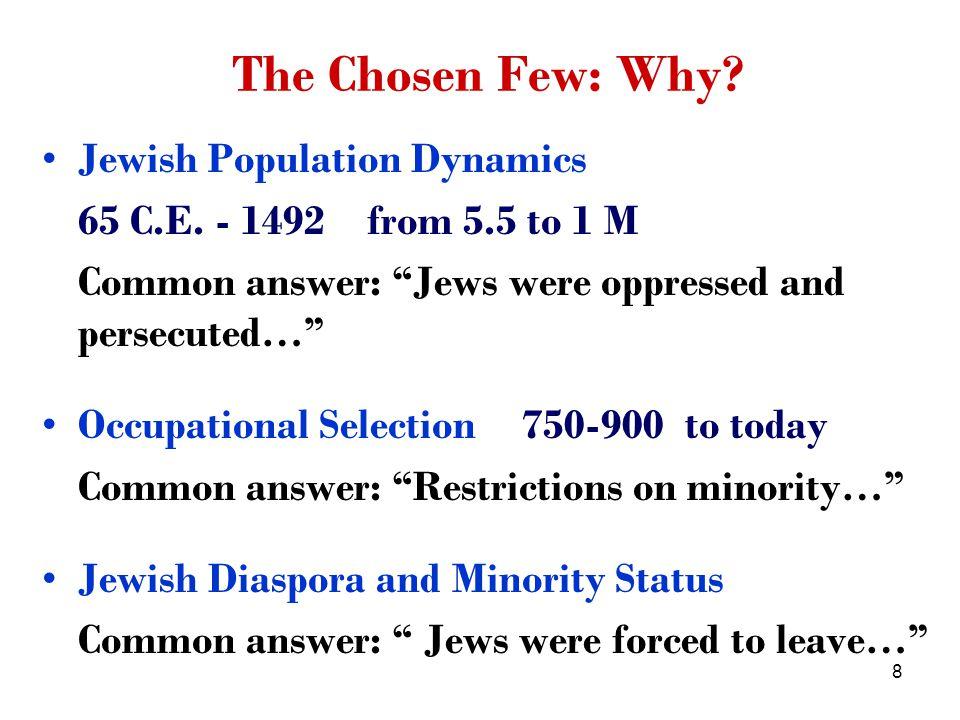 49 The model for merchants Merchant s budget constraint c + γ (e s ) θ + τ rM w F (1 + Ae s α e 1- α ) Education Jewish merchants invest more than non-Jewish merchants in children s education.