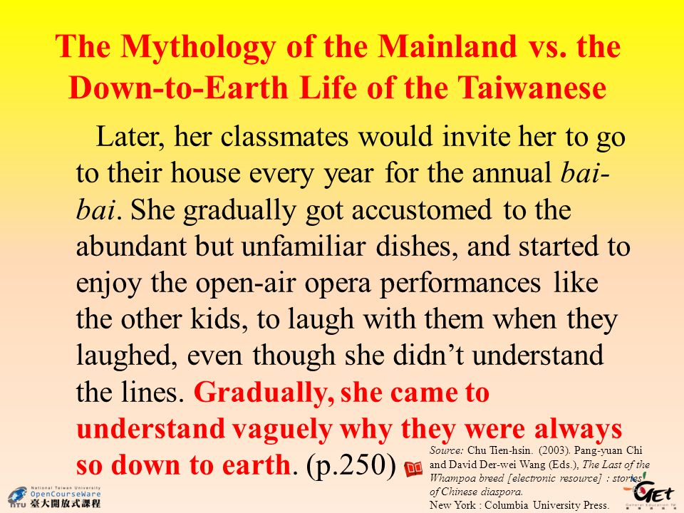 The Mythology of the Mainland vs.