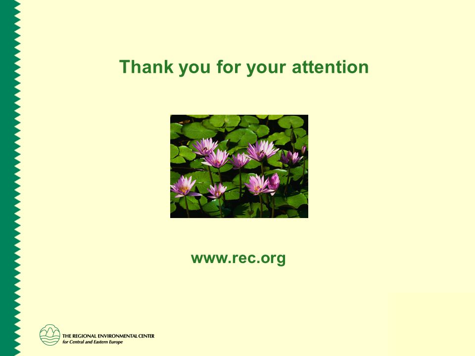Thank you for your attention www.rec.org