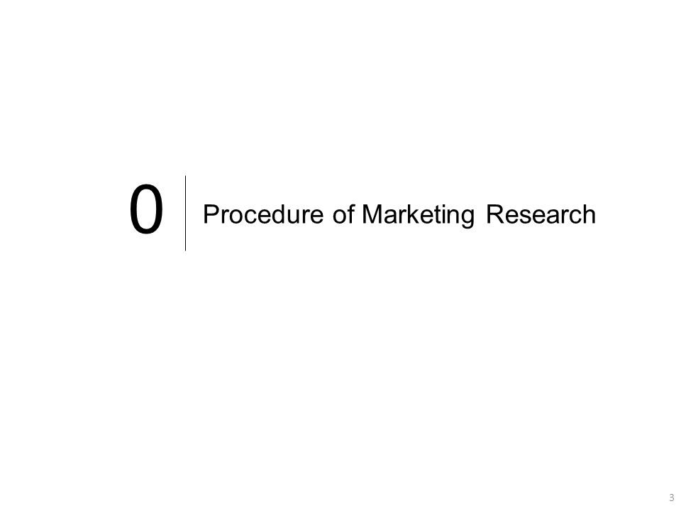 3 3 0 Procedure of Marketing Research