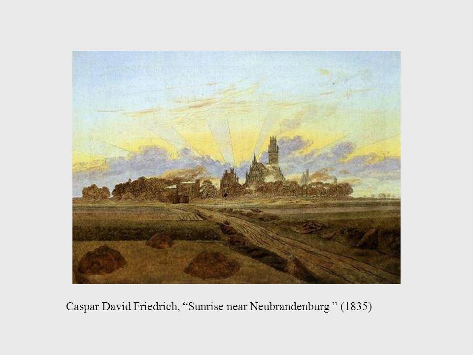 Caspar David Friedrich, Sunrise near Neubrandenburg (1835)
