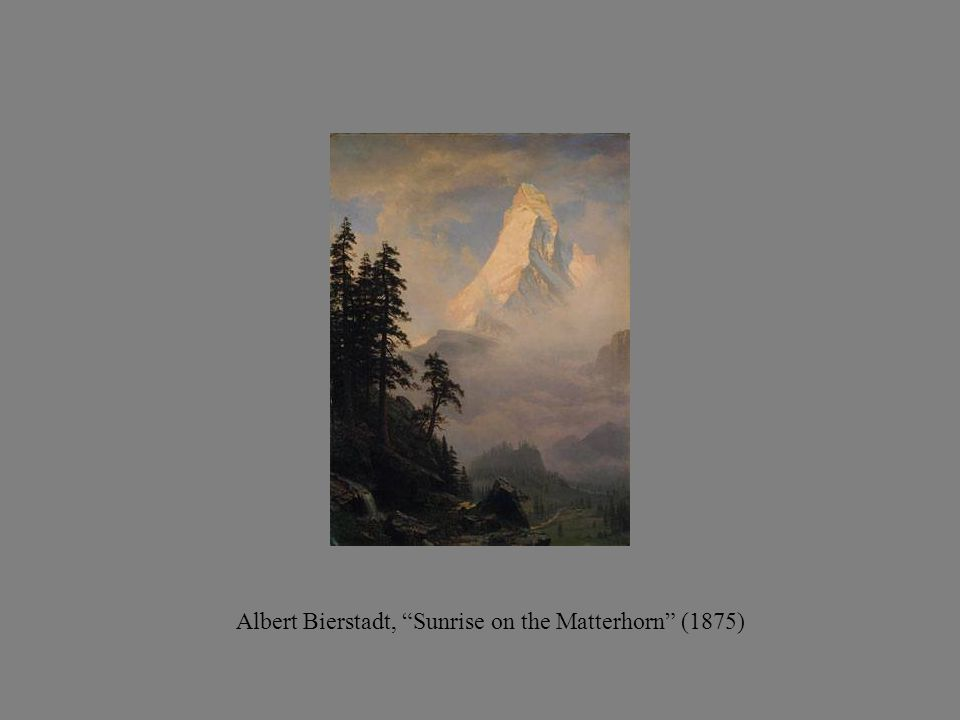 Albert Bierstadt, Sunrise on the Matterhorn (1875)