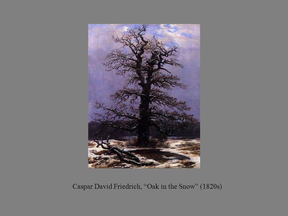 Caspar David Friedrich, Oak in the Snow (1820s)