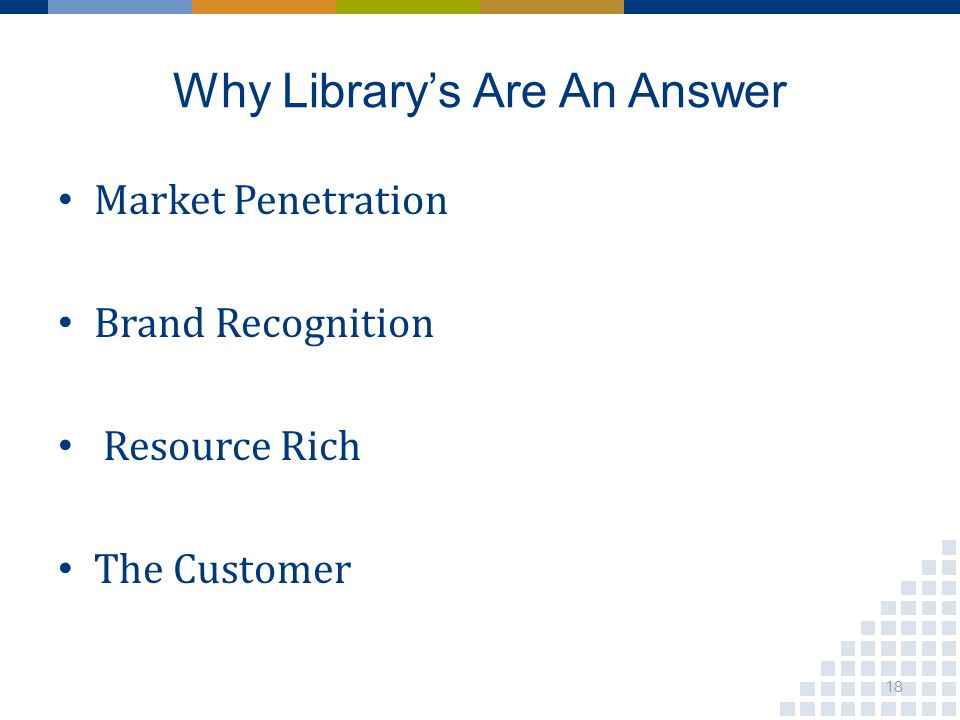 Why Librarys Are An Answer Market Penetration Brand Recognition Resource Rich The Customer 18