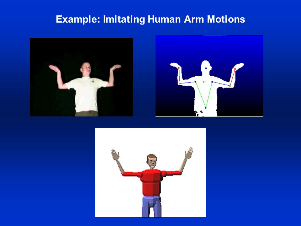 Example: Imitating Human Arm Motions