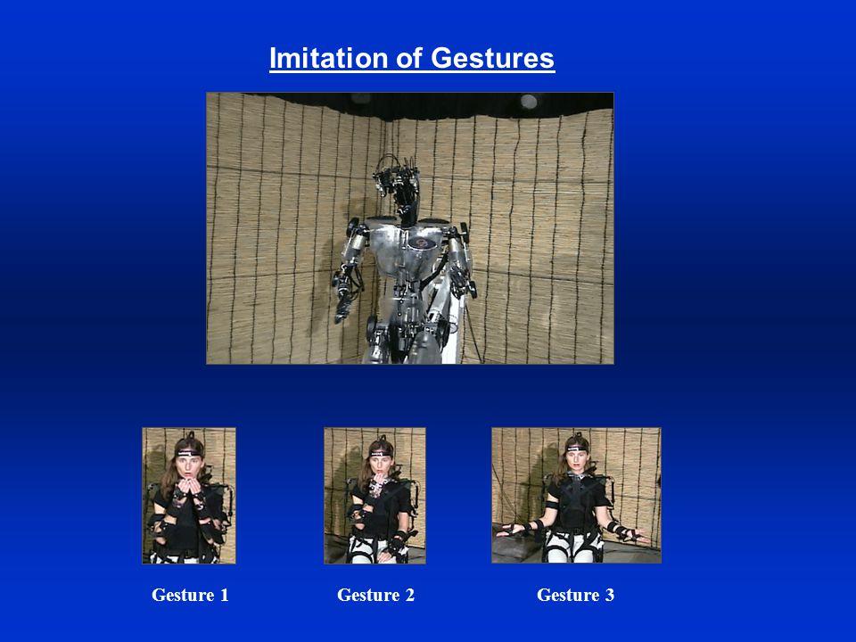 Imitation of Gestures Gesture 1Gesture 2Gesture 3
