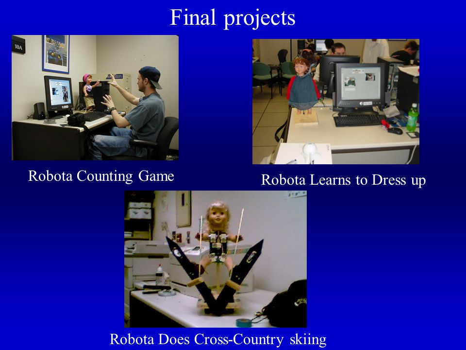 Final projects Robota Counting Game Robota Learns to Dress up Robota Does Cross-Country skiing