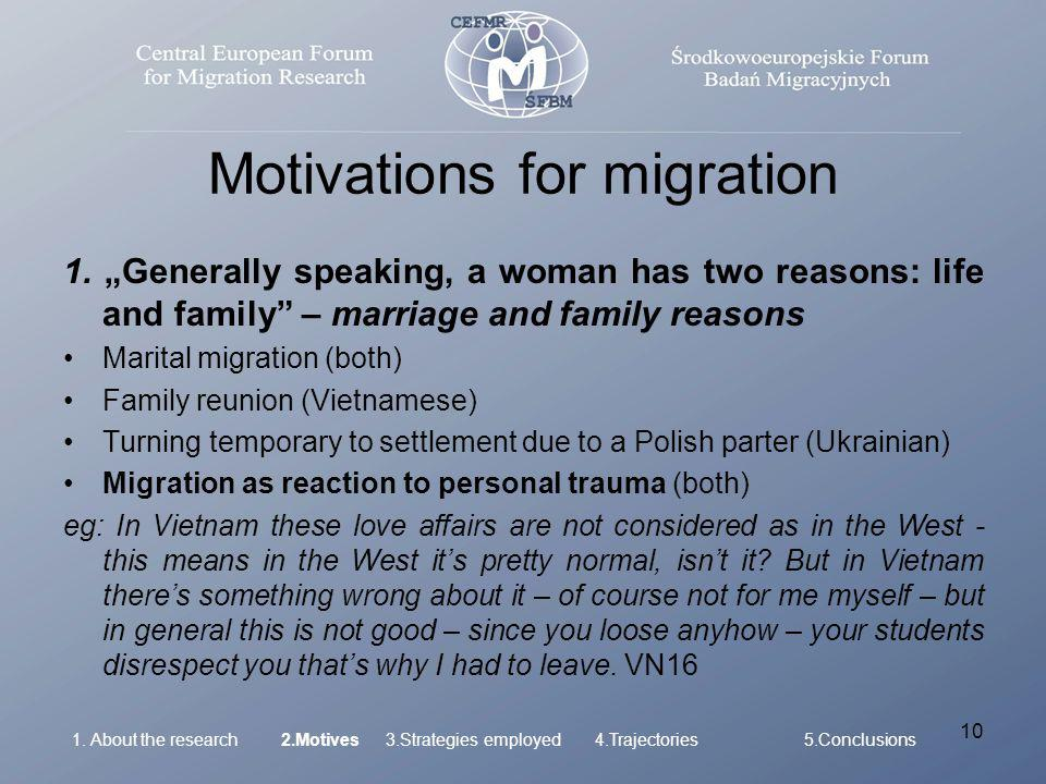 10 Motivations for migration 1.