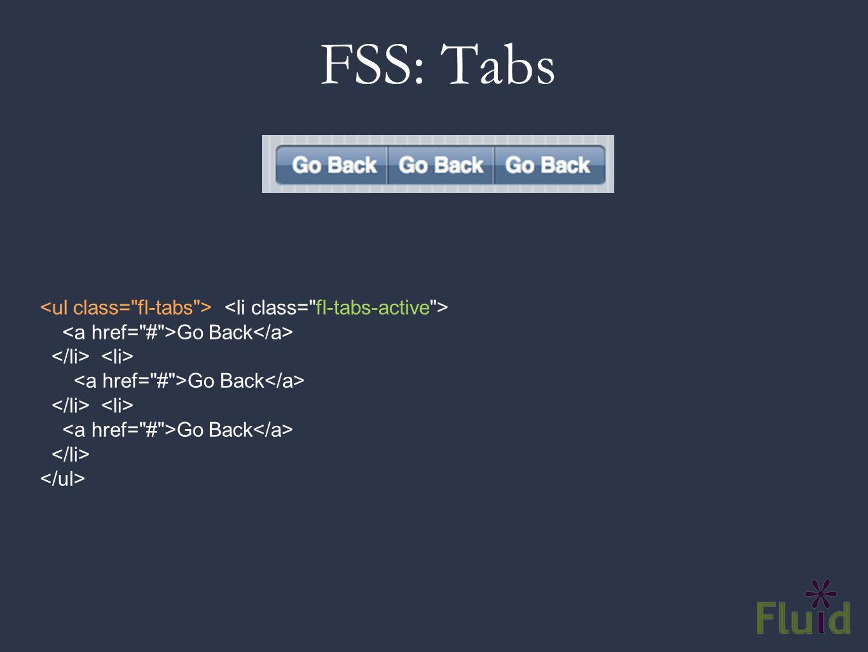 FSS: Tabs Go Back Go Back Go Back