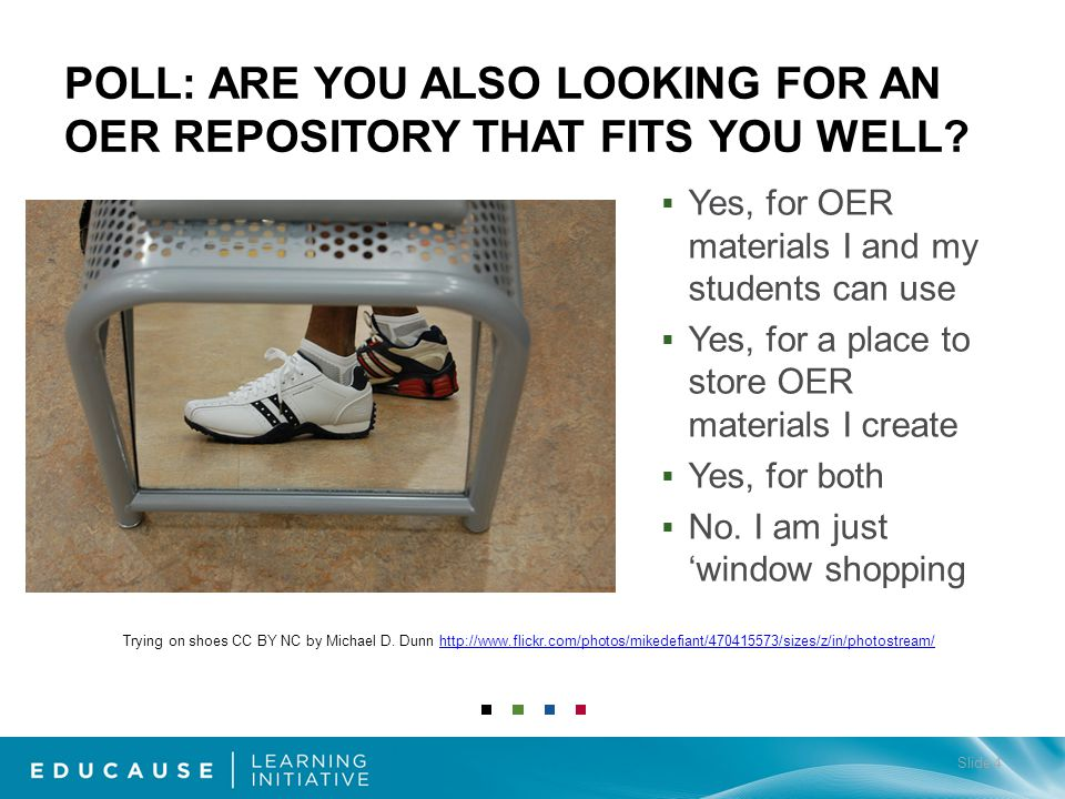 Yes, for OER materials I and my students can use Yes, for a place to store OER materials I create Yes, for both No.