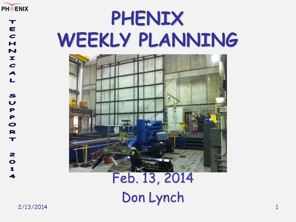 2/13/2014 1 PHENIX WEEKLY PLANNING Feb. 13, 2014 Don Lynch