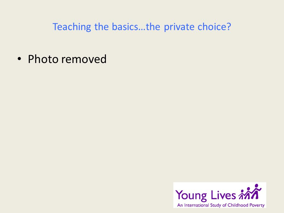 Teaching the basics…the private choice? Photo removed