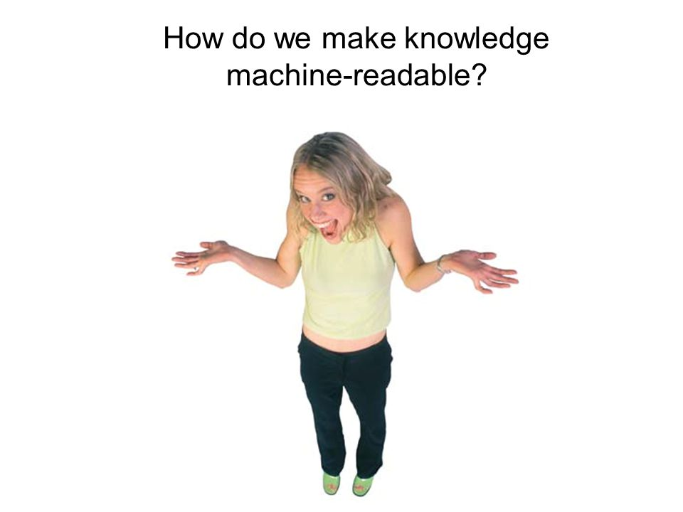 How do we make knowledge machine-readable