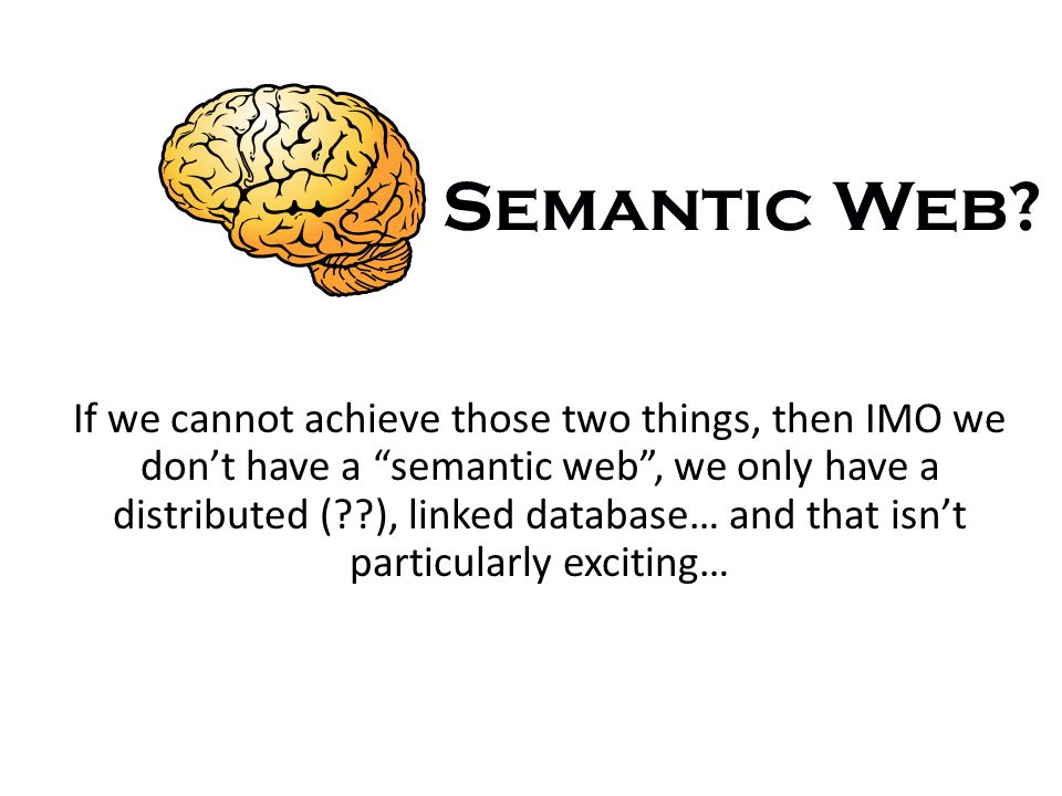 Semantic Web.