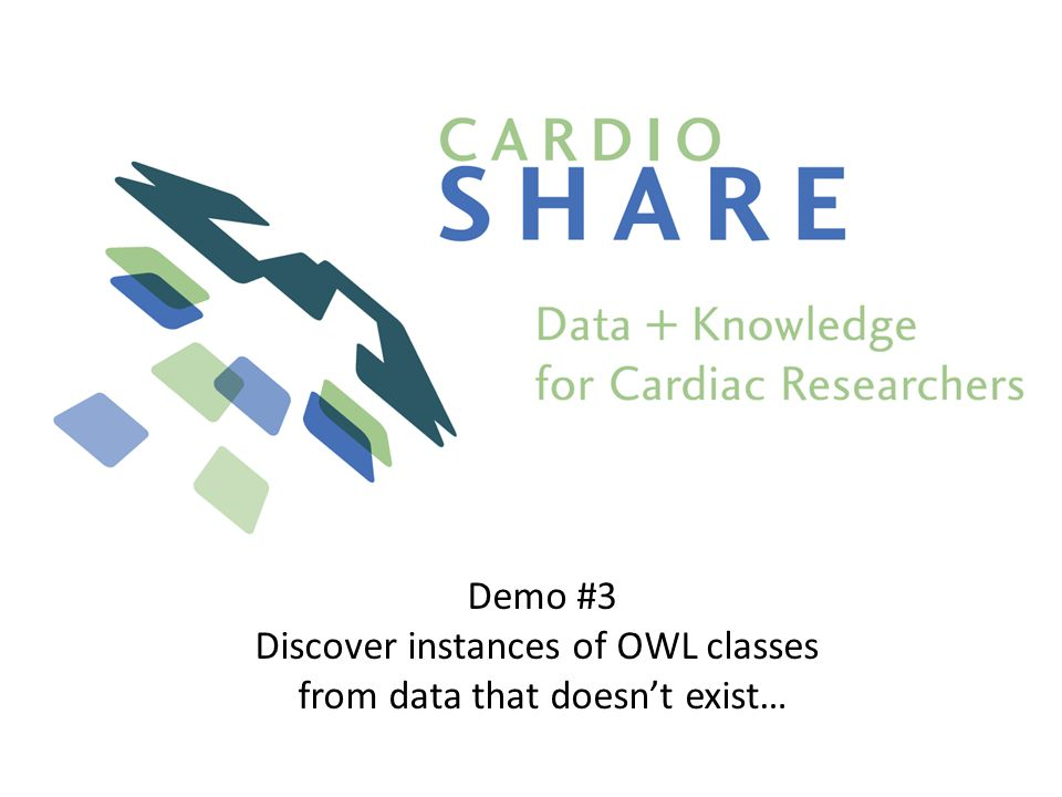 Demo #3 Discover instances of OWL classes from data that doesnt exist…