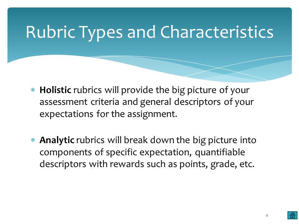Rubric Library at Fresno: http://www.csufresno.edu/oie/assessment/rubric.shtml Example 7
