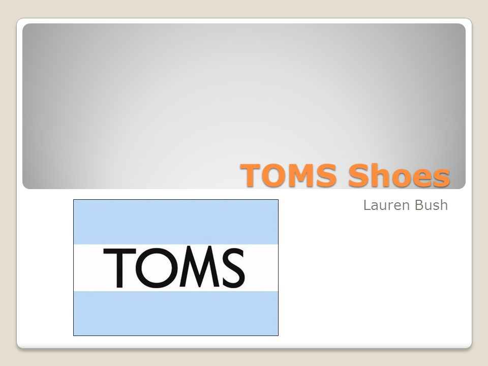 TOMS Shoes Lauren Bush