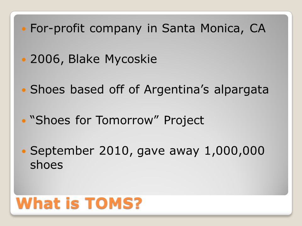 What is TOMS.
