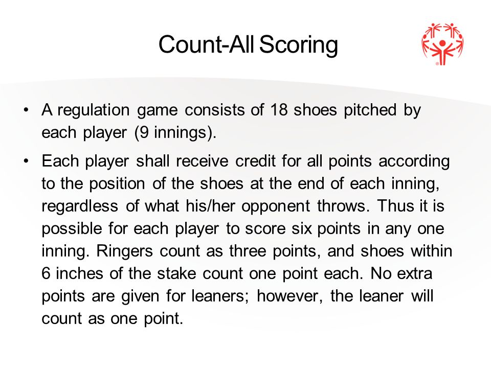 Count-All Scoring Players shall alternate first pitch, one player having the first pitch in the even number innings and the other player in the odd number innings.