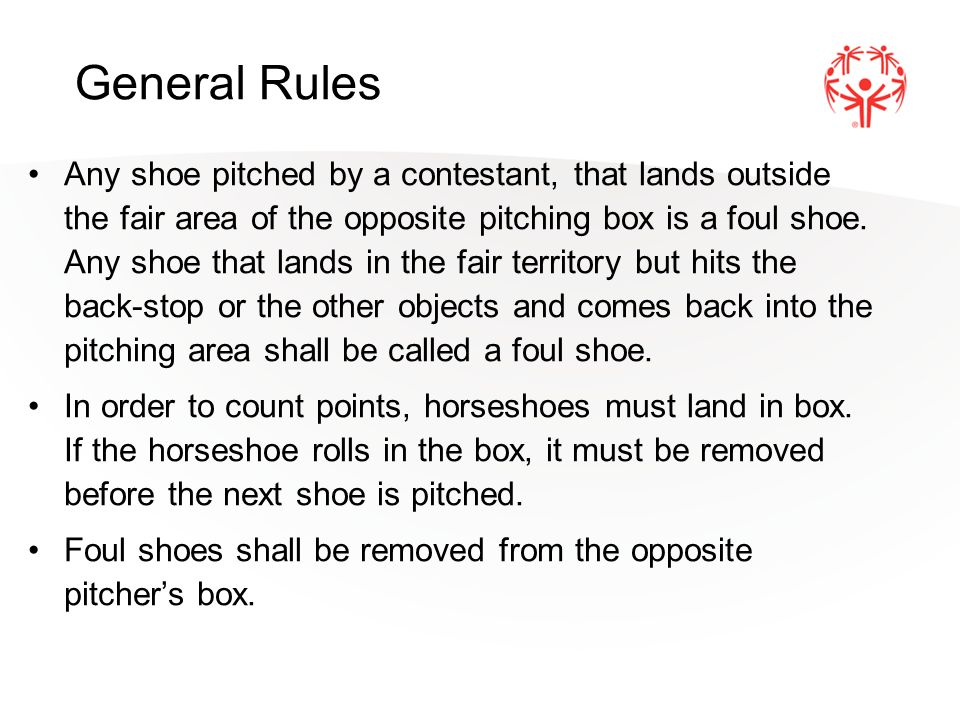 A foul shoe shall not be scored or re-edited except in the score sheet column headed shoes pitched.