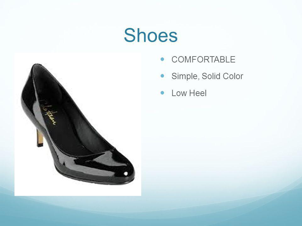Shoes COMFORTABLE Simple, Solid Color Low Heel