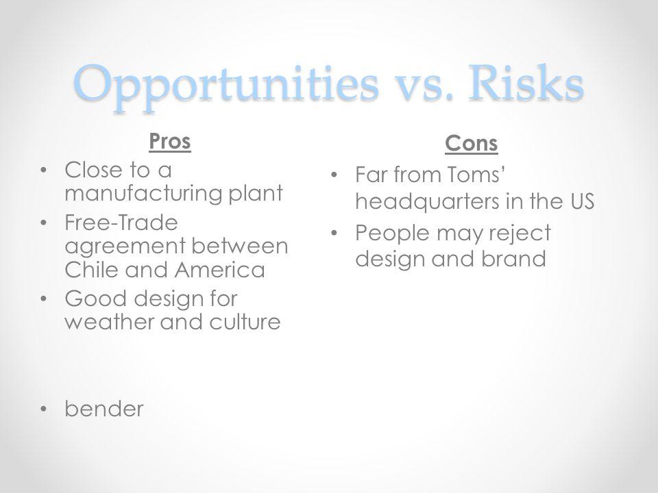 Opportunities vs.