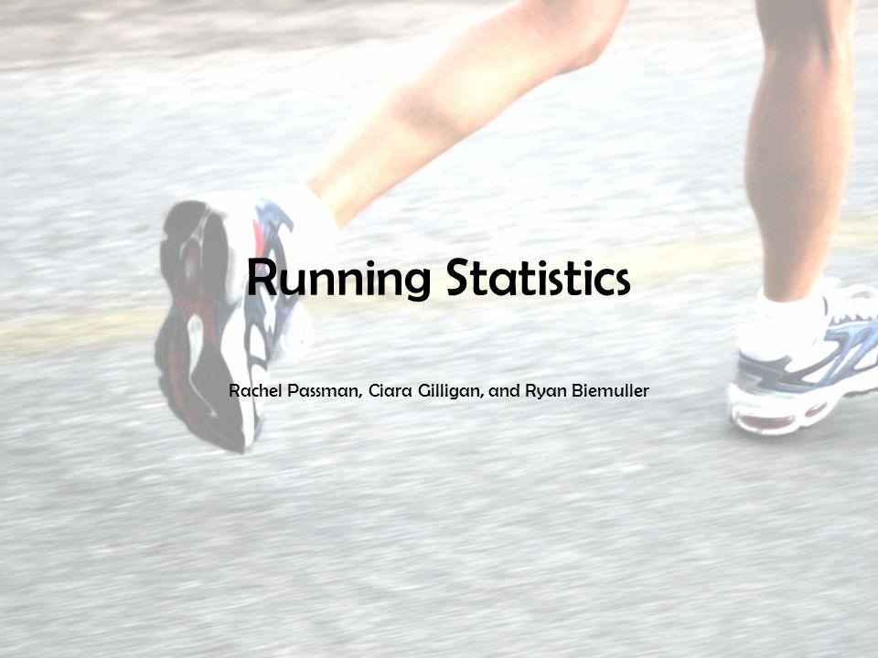 Running Statistics Rachel Passman, Ciara Gilligan, and Ryan Biemuller
