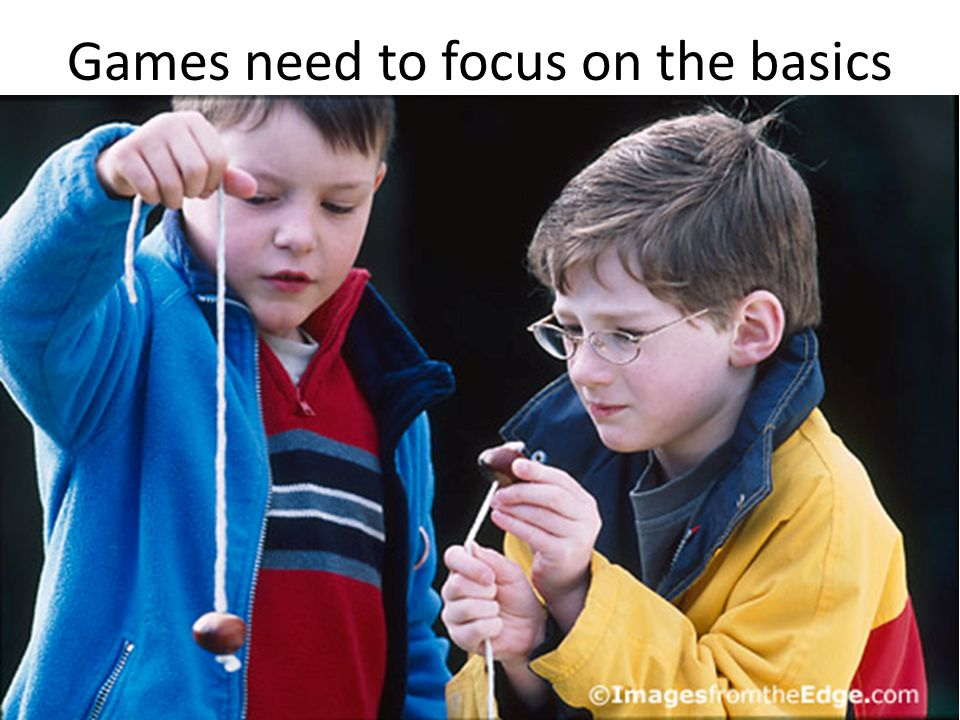 Games need to focus on the basics