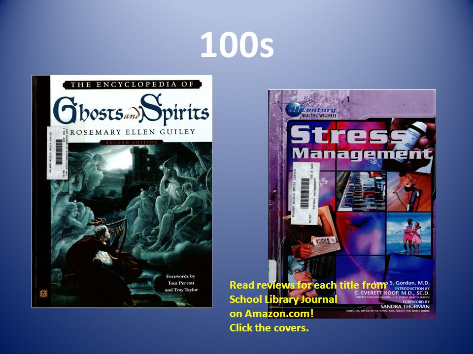100s Read reviews for each title from School Library Journal on Amazon.com! Click the covers.
