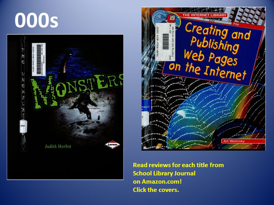 000s Read reviews for each title from School Library Journal on Amazon.com! Click the covers.