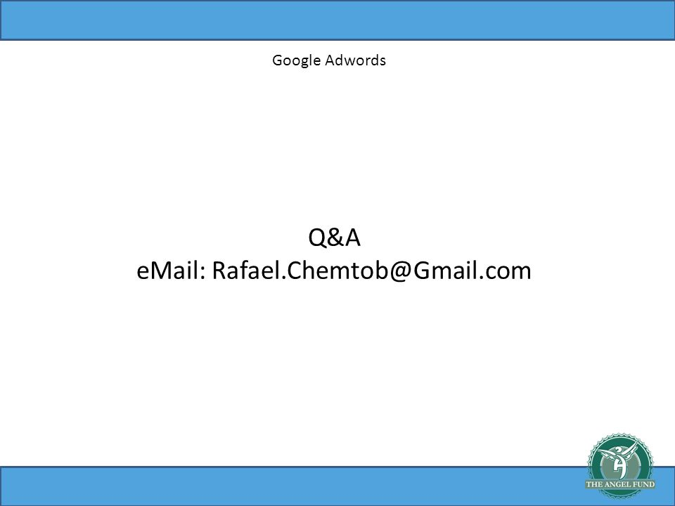 Google Adwords Q&A