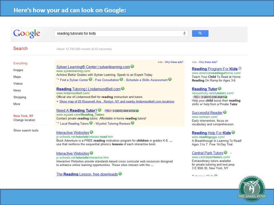 Heres how your ad can look on Google: