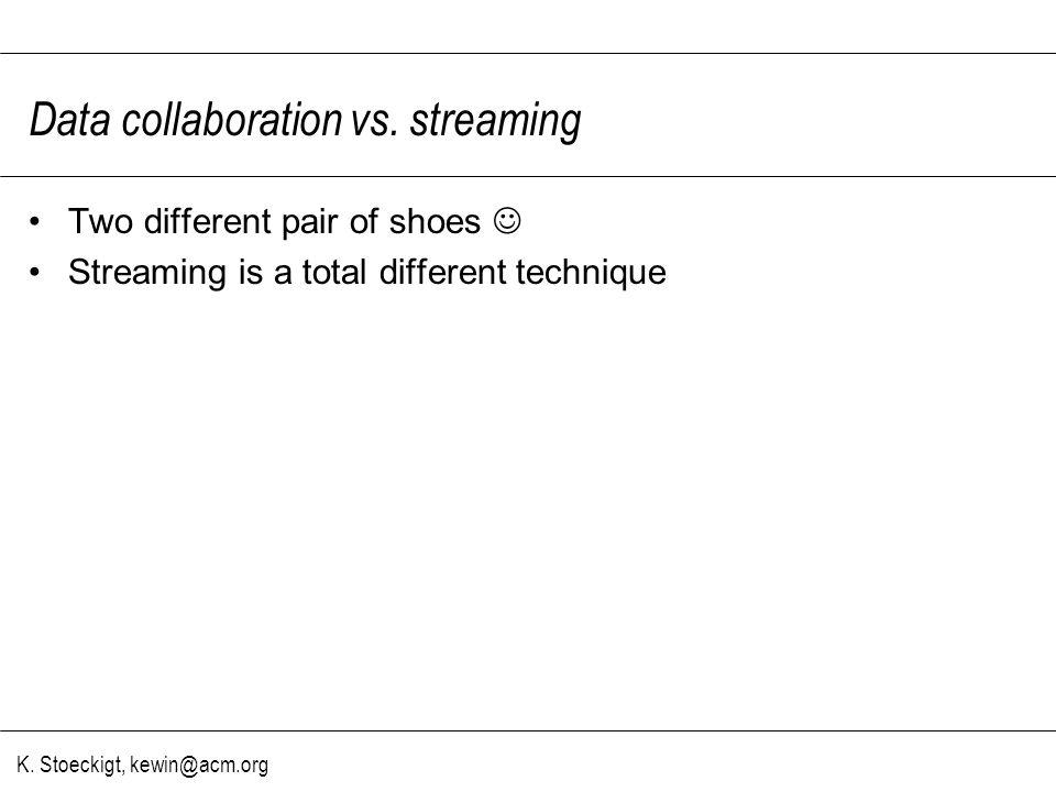 K. Stoeckigt, kewin@acm.org Data collaboration vs.