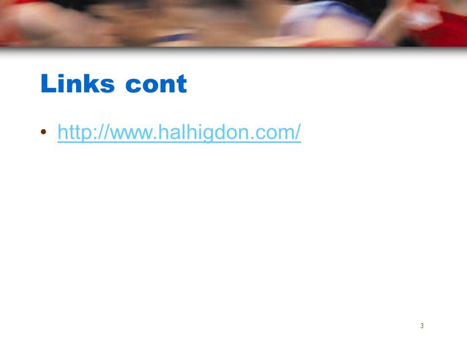 Links cont http://www.halhigdon.com/ 3
