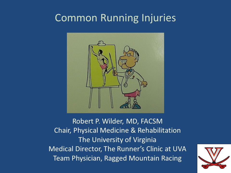 Robert P. Wilder, MD, FACSM Chair, Physical Medicine & Rehabilitation The University of Virginia Medical Director, The Runners Clinic at UVA Team Phys