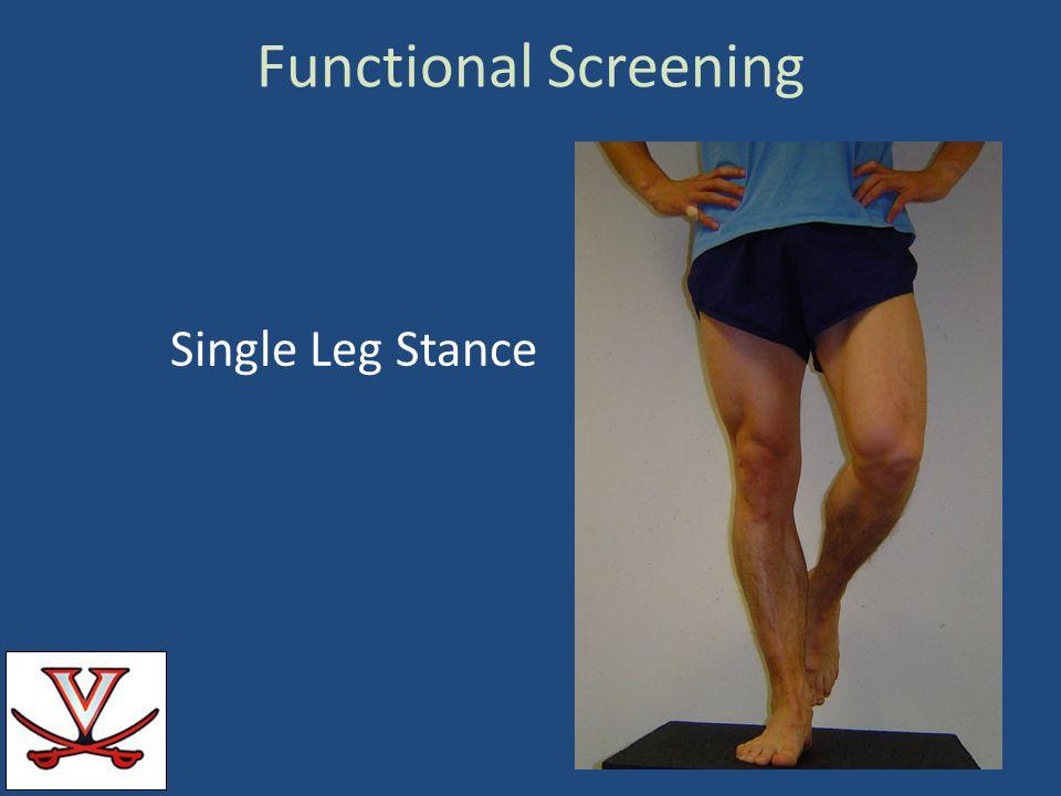Functional Screening Single Leg Stance