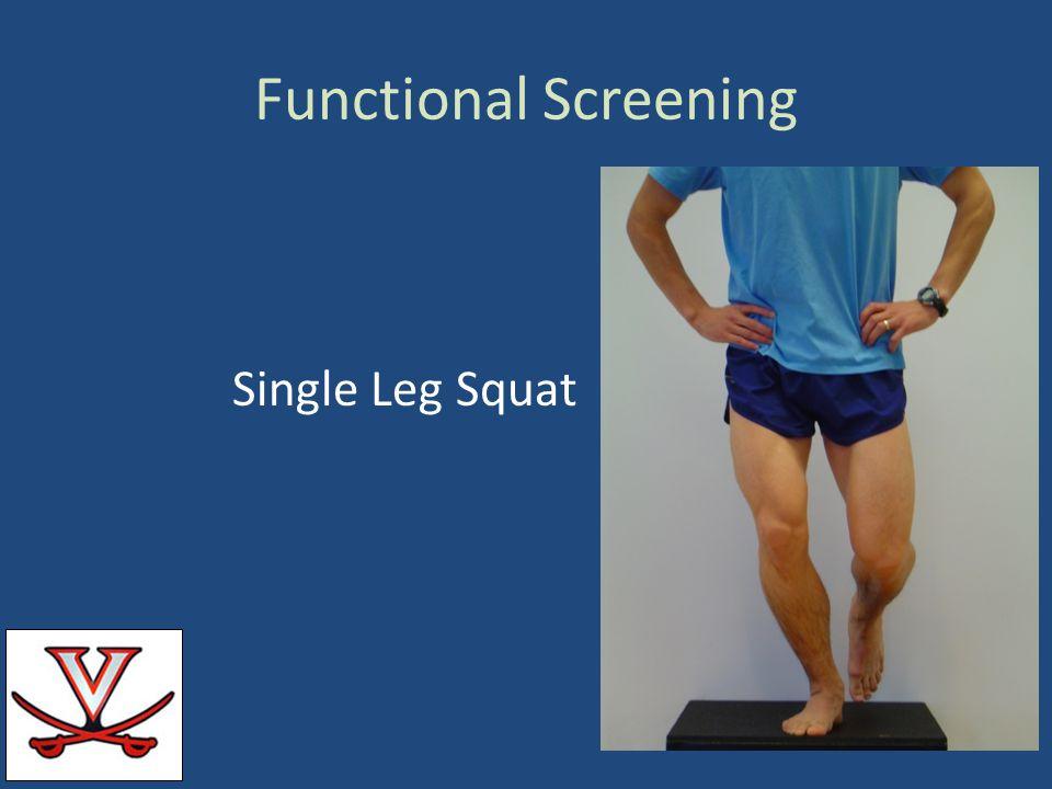 Functional Screening Single Leg Squat