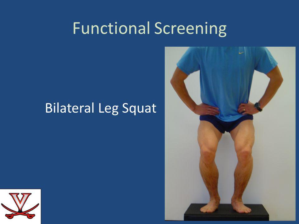 Functional Screening Bilateral Leg Squat