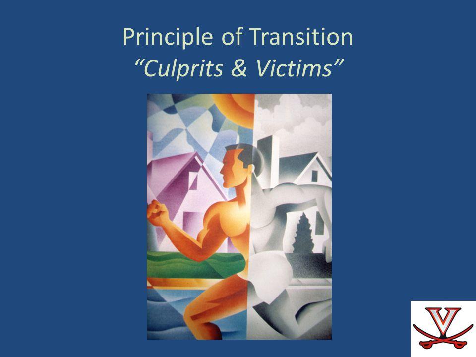 Principle of Transition Culprits & Victims