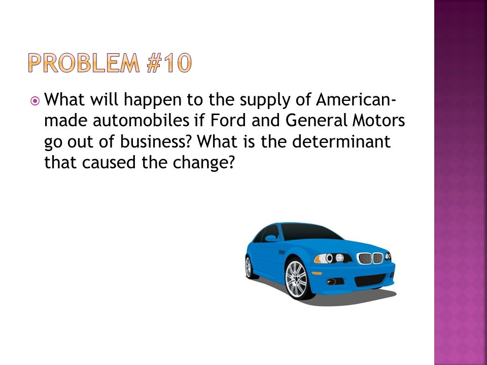 What will happen to the supply of American- made automobiles if Ford and General Motors go out of business.