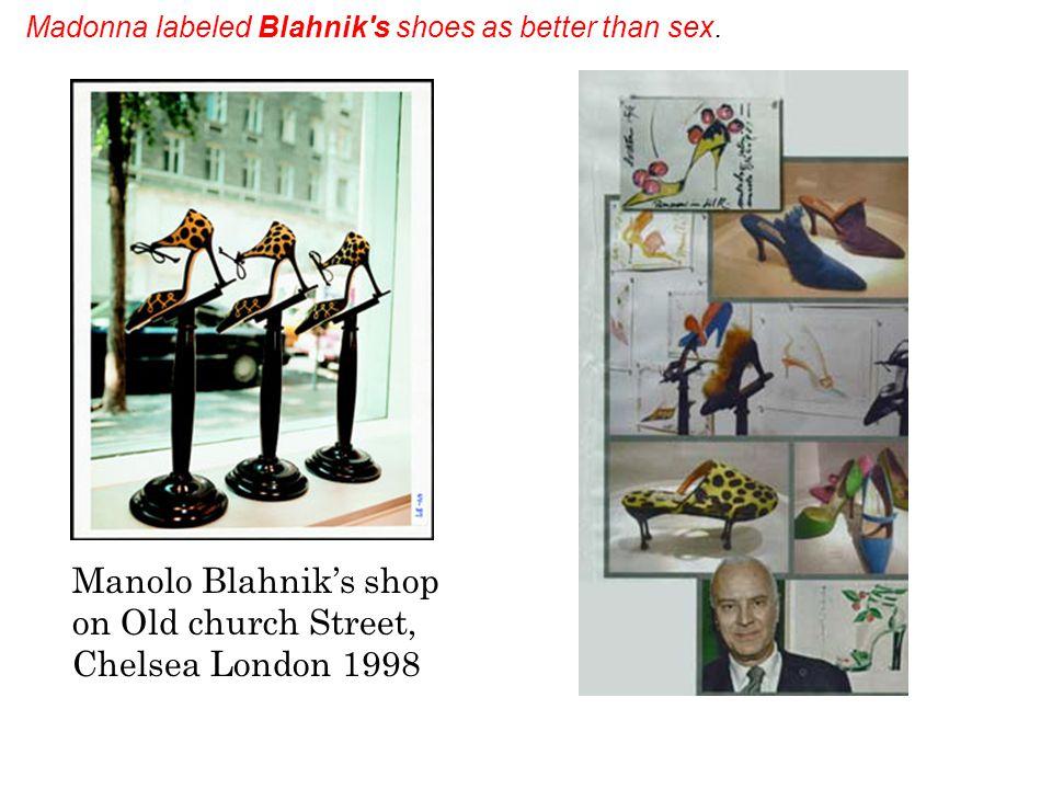 Manolo Blahniks first shoe designed for Ossie Clark: 1971 Manolo Blahniks favorite shoe of the 1980s- The 1984 Ring Manolo Blahnik: By Decades