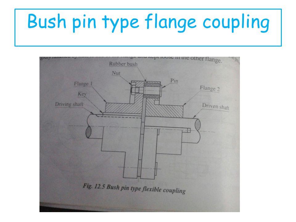 Bush pin type flange coupling